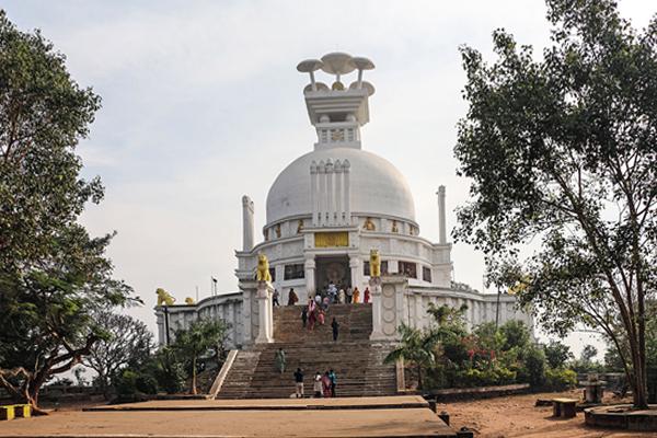 Dhauli Buddhist Stupa, Bhubaneswar, Odisha.