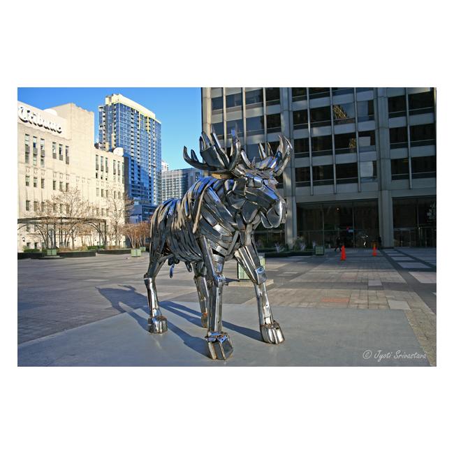 2003 Temporary Exhibit Pioneer Court Moose By Joan