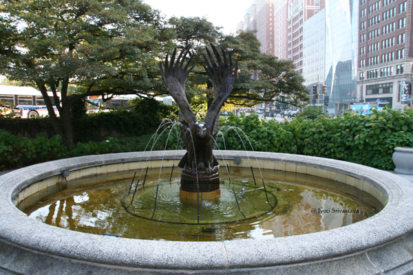 Eagle Fountain - by Frederick C. Hibbard