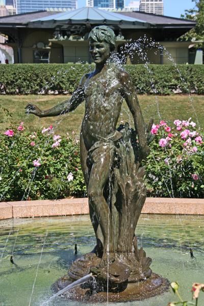 Turtle Boy -  by Leonard Crulenne / South Rose Garden, Grant Park.