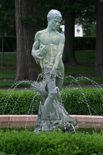 Fisher Boy - by Leonard Crulenne / North Rose Garden, Grant Park.