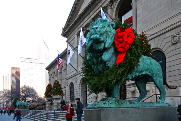 Christmas / Lions- by Edward Kemeys
