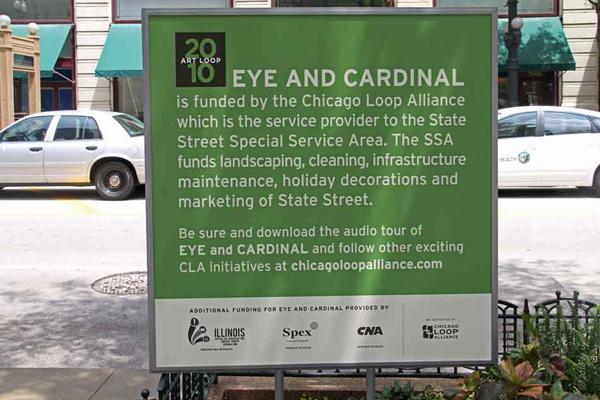 2010: Eye and Cardinal - by Tony Tasset