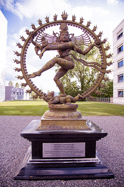 A statue of Shiva engaging in the Nataraja dance at CERN in Geneva, Switzerland
