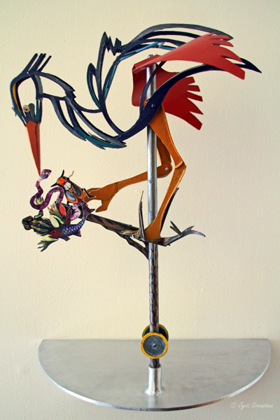 "Maquette ""Arching Heron"" - by Christine Rojek"