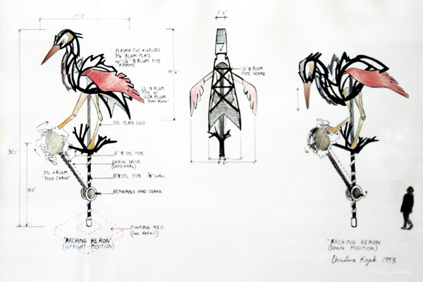 "Concept and rendering ""Arching Heron"" - by Christine Rojek"
