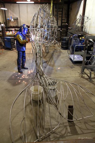 2011 Studio Visit: Preston Jackson / Work-in-progress on Sperm Whale sculptore