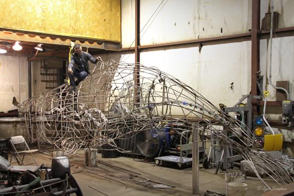 Preston Jackson / Work-in-Progress on Sperm Whale sculptore