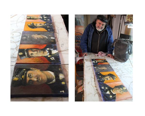 2011 Studio Visit: S. Thomas Scarff /Painting for the Memorial to the Fallen 21