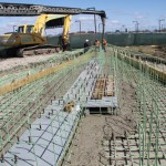 Installation of Runners: First Concrete Pour