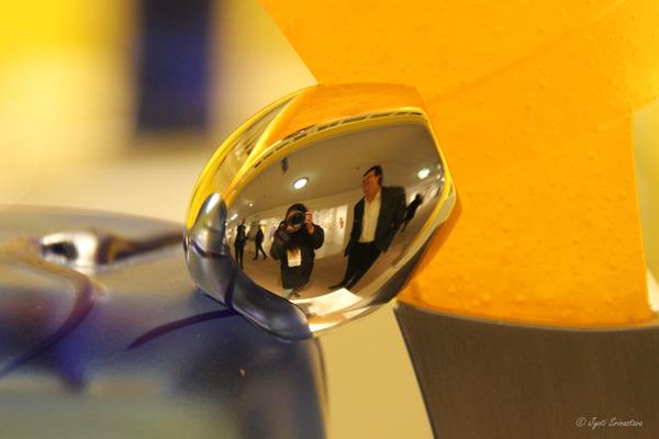 Self-portrait with glass artist Dan Dailey
