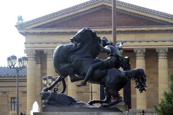Amazon Attacked by Panther - by Auguste Kiss / The Philadelphia Museum of Art