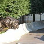 Lion sculpture at The National Law Enforcement Officers Memorial.