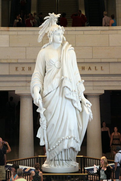 The Statue of Freedom, by Thomas Crawford / United States Capitol Building,  Washington, D.C.