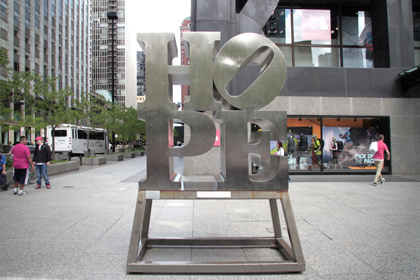 Hope - by Robert Indiana / Hancock Center, Chicago.