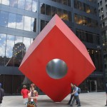 The Red Cube - by Isamu Noguchi