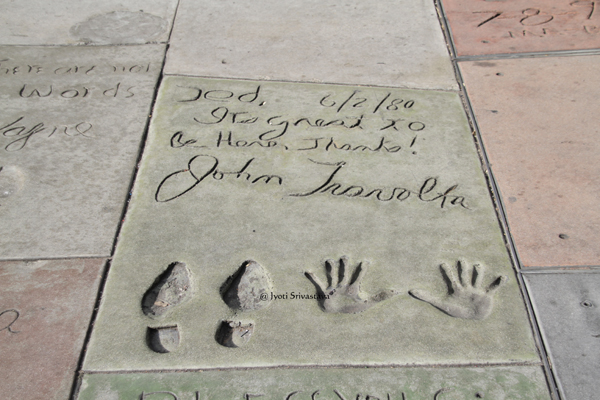 Forecourt of Stars Footprints  at TCL Chinese Theater
