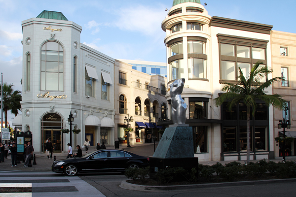 Torso and Two Rodeo Drive, Beverly Hills, California.