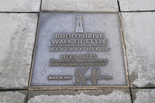 Walk of Style, Rodeo Drive.
