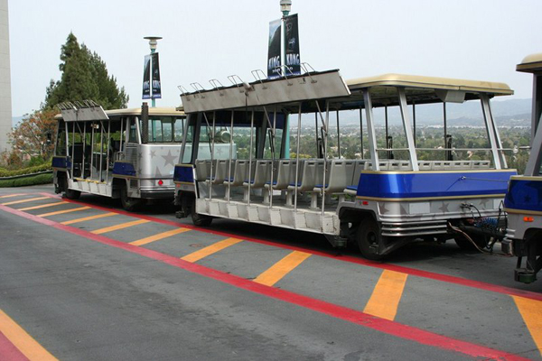 Trolley for tour / Universal Studios Hollywood.