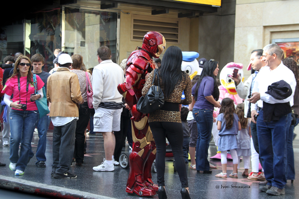 Costumed Characters Along Walk of Fame