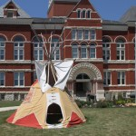 Tipi in Old Ogle County Courthouse