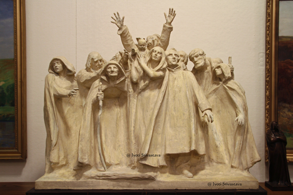 "Maquette for ""Blind "" - by Lorado Taft"