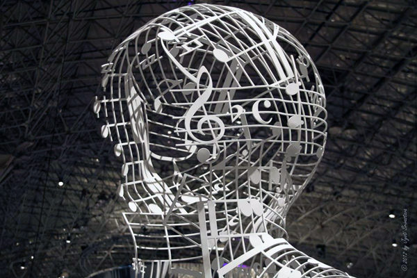 Silent Music- by Jaume Plensa / Expo Chicago 2012 / Richard Gray Gallery