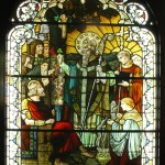 St. Patrick's Blessing and confronting Laoghaire - by F.X.Zettler of Munich