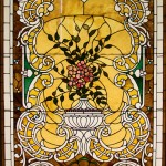 Elaborate Floral composition with gold background - by unidentified designer