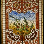 Floral Landing Window - by Wells Glass Co