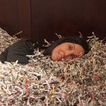 Bed of Junk Mail - by Barbara Hashimoto