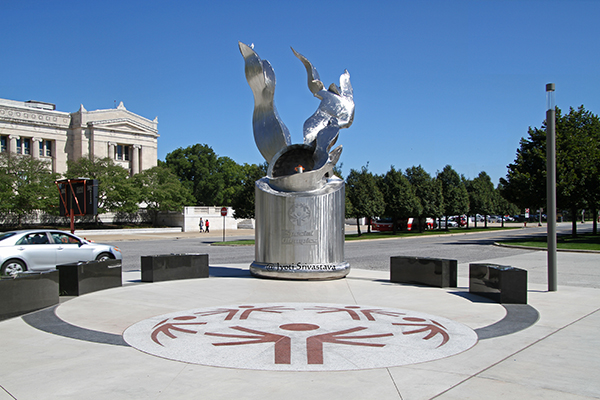 The Special Olympics Eternal Flame of Hope Monument - by