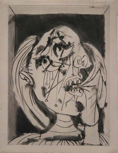 Weeping Woman III [Dora Maar / 1937]  Exhibition: Picasso and Chicago