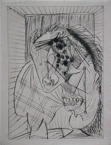 Weeping Woman IV [Dora Maar / 1937]  Exhibition: Picasso and Chicago