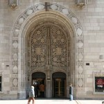 Tribune Tower : Hall of Inscriptions and Aesop's Stone Screen