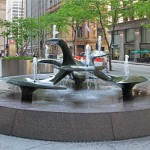 Harris Bank Fountain - by Russell Secrest