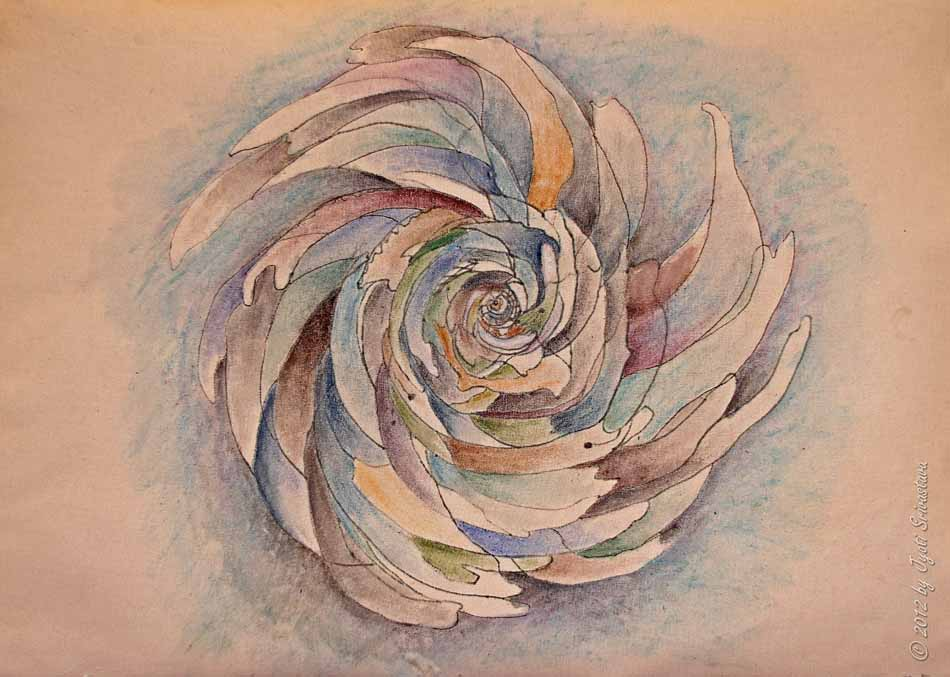 sketch for sculpture �spiral galaxy� � by jill king