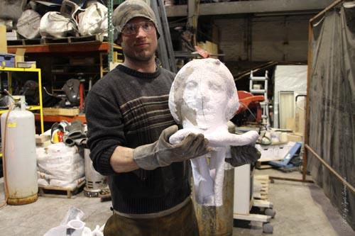 Recasting a 1938 sculpture