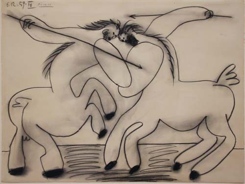 Combat of Centaurs - by Pablo Picasso [1959]