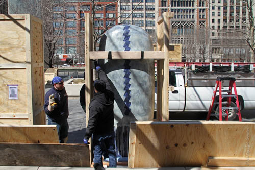 Installation of Jun Kaneko's Dangos