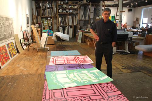 John Himmelfarb at his Studio