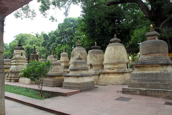 Stupas / Mahabodhi Temple Complex / Bodh Gaya, Bihar.