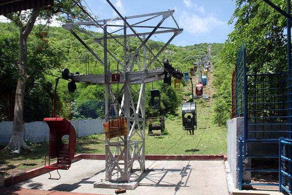 Rajgir: Aerial Ropeway -Going uphill