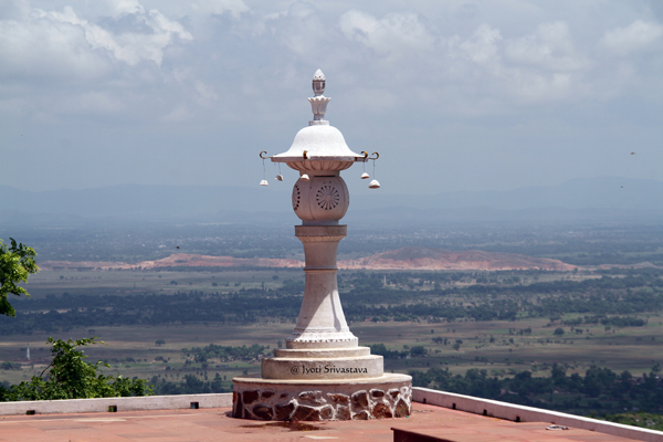 Rajgir: View of the hills from the World Peace Pagoda