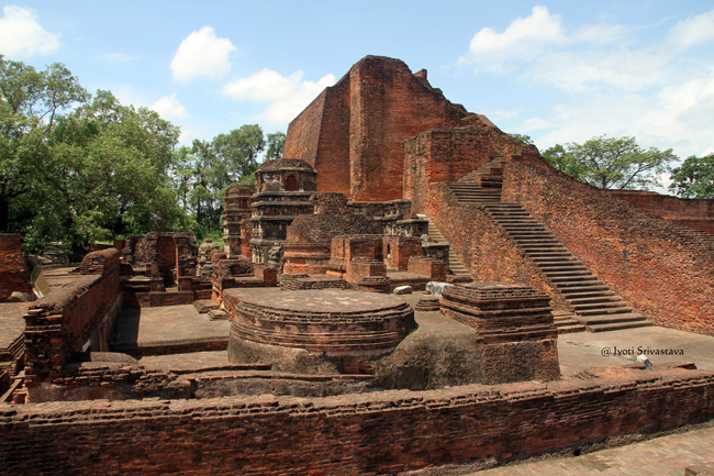 Stairways, Stupas and Shrines / Archaeological Site of Nalanda University /  Nalanda, Bihar
