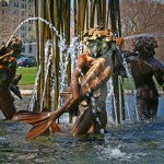 Eli Bates Fountain / Storks at Play - by Augustus Saint-Gaudens