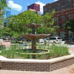 Printers Row Square Fountain