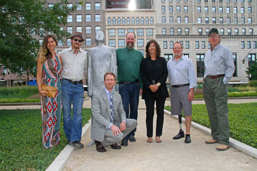 The Team that help install Borders in Solti Garden, Chicago
