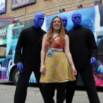 Cody Rounds with Blue Man Group